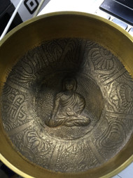 "Nepal Singing Bowl 4"" with Buddha Design"