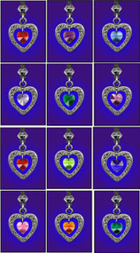 Birthstone Heart Pendants