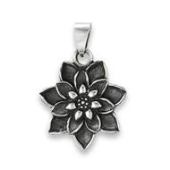 Sterling Silver Bursting Lotus Pendant: