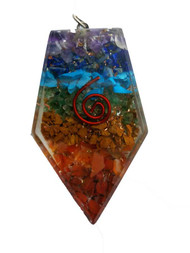 Orgone Triangle 7 Chakra pendant