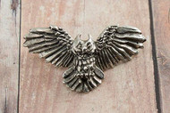 Great Horned Owl Sterling Silver Pendant