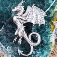 The Wyvern Dragon Silver Pendant