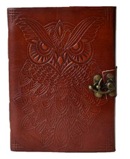 Owl Leather Journal blank book