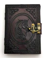 Unicorn Journal leather blank book