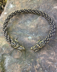 Extra Heavy Braid Norse Wolf Torc