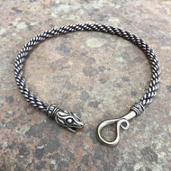 Medium Braid Ouroboros Snake Torc