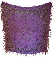 "Pentagram altar cloth 36"" x 36"""