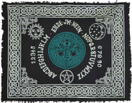 "Tree of Life Ouija-Board altar cloth 24"" x 30"""