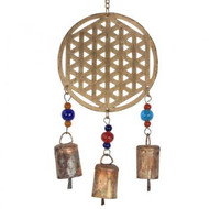 RECYCLED FLOWER OF LIFE WINDCHIME