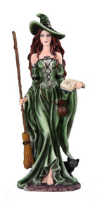 Witch with Broom Figurine