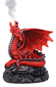 Red Dragon Cone Incense Burner