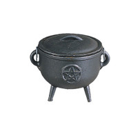 Cast Iron Cauldron Pentagram