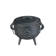 Cast Iron Cauldron Celtic Knot