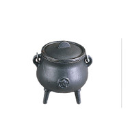 Cast Iron Cauldron Mini Pentagram