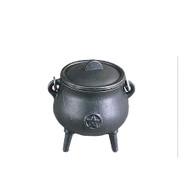 Cast Iron Cauldron Mini Pentagram