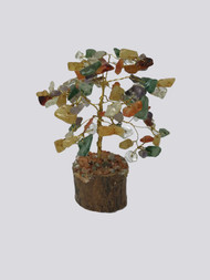 Small Multi Stone Tree on Wood Base