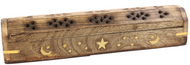 WOODEN INCENSE BURNER WITH STORAGE 12""