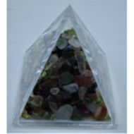 Acrylic Pyramid Filled with Stone Chips