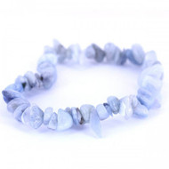 7 Inch Stretch Chip Bracelet - Aquamarine