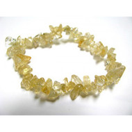 7 Inch Stretch Chip Bracelet - Citrine