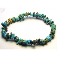 7 Inch Stretch Chip Bracelet - Natural Turquoise