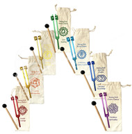 Chakra TUNING FORKS – SET OF 7 ONE OF EACH COLOR