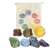 7 Chakra Stones Rough Balancing Kit with Bag