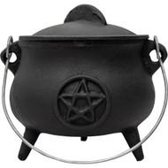 Cast Iron Cauldron Medium 5.5in Pentacle
