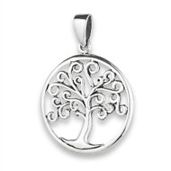 Sterling Silver Tree Of Life Pendant Curly