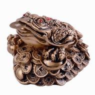 Money Frog - Resin Gold
