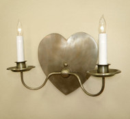 Heart Sconce - Two Arm