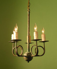 Georgian Trumpet Arm Pendant - 5 Light