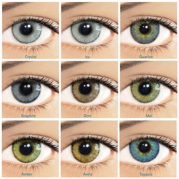 Solotica Natural Colors Prescription Power Lenses - One Box Two Lenses Yearly