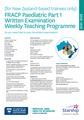 FRACP Paediatric Part 1 Written Examination Weekly Teaching Programme 2021-2022 (for pre-arranged NZ-based trainees only)