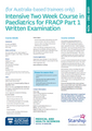 FRACP Paed Part 1: Intensive Two Week Course 2021 for AUS (online access, package deal, for pre-approved registrants)
