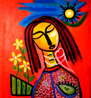 Spring Woman in Love- SOLD