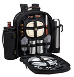 Picnic at Ascot 2 Person Picnic Backpack w/Coffee Service - Black   James Anthony Collection