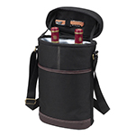 Picnic at Ascot - Insulated 2 Bottle Travel Wine Tote - Black | James Anthony Collection