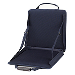 Picnic at Ascot Portable Adjustable Reclining Stadium Seat - Navy | James Anthony Collection