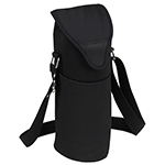Picnic at Ascot Insulated Wine Bottle Tote with Shoulder Strap - Black | James Anthony Collection
