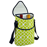 Picnic at Ascot Insulated 2 Bottle Wine Tote w/Shoulder Strap - Trellis Green | James Anthony Collection.jpg