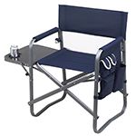 Picnic at Ascot Folding Directors Chair With Table - Navy | James Anthony Collection