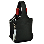 Picnic at Ascot 2 Bottle Wine Tote with Corkscrew - Black | James Anthony Collection