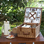 Picnic at Ascot Cheshire Picnic Basket for 2 w/blanket
