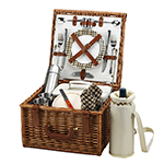 Picnic at Ascot Cheshire English-Style Willow Picnic Basket with Service for 2 w/Coffee Service