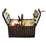 Picnic at Ascot Surrey Willow Picnic Basket with Service for 2 - James Anthony Collection