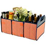 Picnic at Ascot Folding Trunk Organizer - Diamond Orange | James Anthony Collection