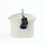 SEDA France Bleu et Blanc Bergamot Lavender Two-Wick Ceramic Candle | James Anthony Collection