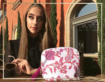 BRAI Pochette Porto Imprimé Fleur Majestic | James Anthony Collection