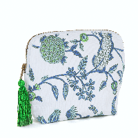 BRAI Pochette Porto Imprimé Fleur Majestic - Green | James Anthony Collection